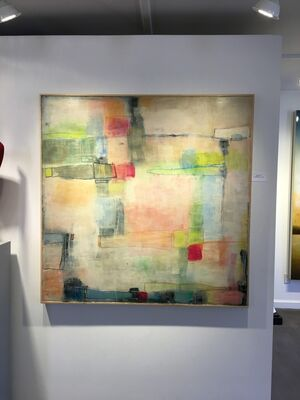 Mary Long large encaustics, installation view