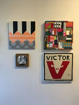 """""""Square Pegs"""", Parlor Gallery's 10th Anniversary Exhibition, installation view"""