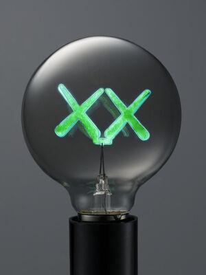 KAWS X THE STANDARD LIGHT BULB GREEN