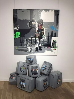 """ TV  rules your life "" - Kurar Solo Show - Nextstreet Gallery, installation view"