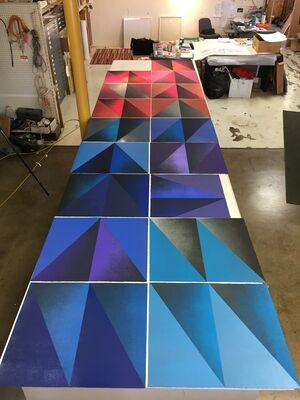 Ingenious Alchemy: Kate Petley's Monoprints, installation view
