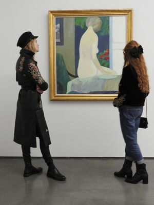 Roger Mühl paintings, installation view