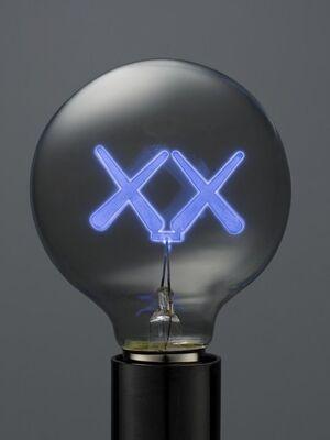 KAWS X THE STANDARD LIGHT BULB PURPLE