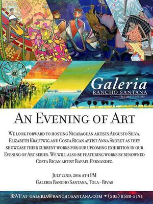 An Evening of Art, installation view