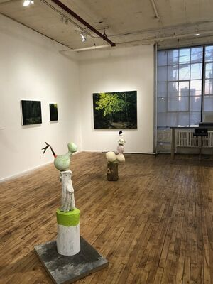 AMY TALLUTO: THE GRAPE OF THE AIR / Recent Paintings and Gouaches, installation view