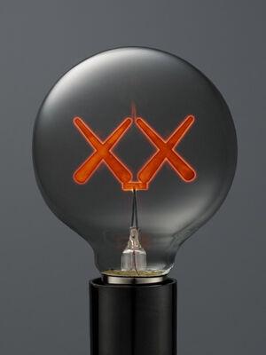 KAWS X THE STANDARD LIGHT BULB RED