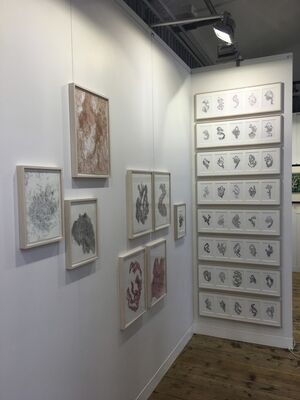Galerie Judith Andreae at Paper Positions Basel 2018, installation view