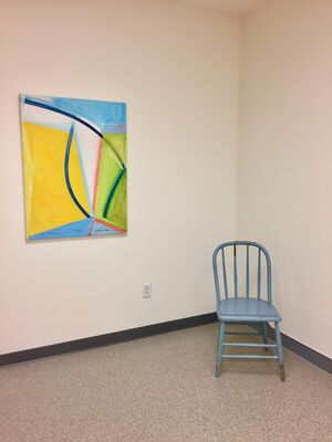 Transitions: Color + Space, Smaller Works by Warren Rosser, installation view