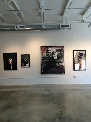 First Oeuvre: Isaza's Multimedia Works at the Parmigiani Gallery, Miami, installation view