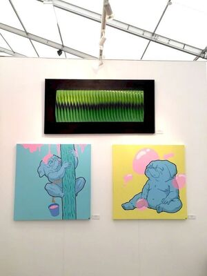 Lomaka Gallery at Affordable Art Fair Hampstead 2017, installation view