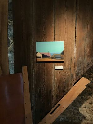 STILL LIGHT new paintings by Alex Lowery, soda-fired porcelain by Jack Doherty, steam bent furniture by Petter Southall, installation view
