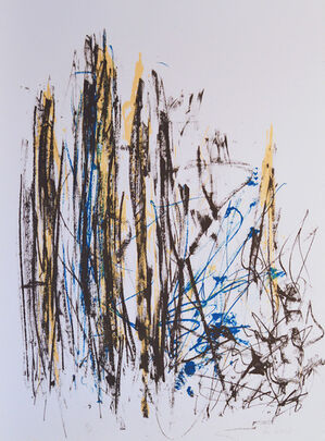 Arbres (Black, Yellow and Blue)