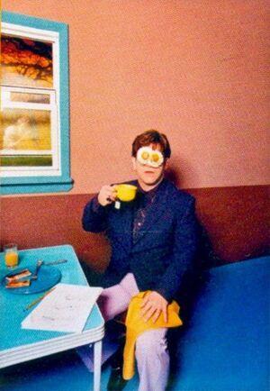 Elton John: Egg On His Face
