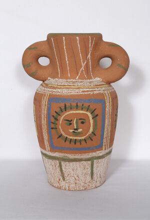 Vase avec decoration pastel (Vase with Pastel Decorations)