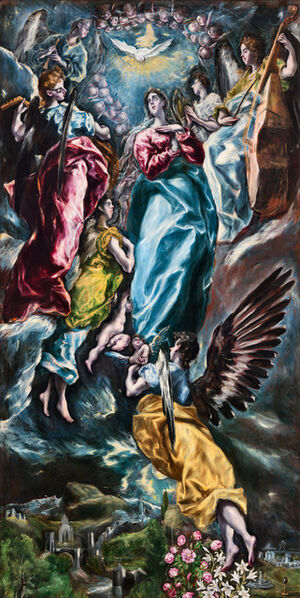 El Greco, 'Immaculata Oballe', 1613