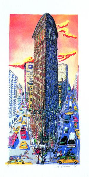 Red Grooms, 'Flatiron Building', 1995
