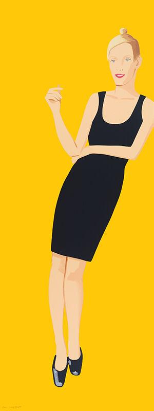 Alex Katz, 'Black Dress 3 (Oona)', 2015, Print, Silkscreen in 23 colors, Mary Ryan Gallery, Inc