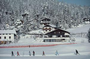 Slim Aarons, 'Skiing In Seefeld', 1985
