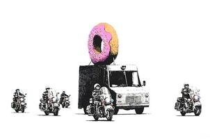 Banksy, 'Strawberry Donuts', 2009