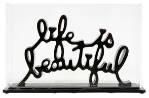 Mr. Brainwash, 'Life is beautiful  - Dipped black', 2020
