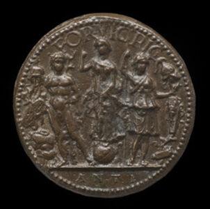 Antico, 'Fortune, Mars, and Minerva [reverse]'