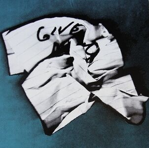 Charles Lutz, 'GIVE (Give Me Everything- Crumpled Robbery Note)', 2013