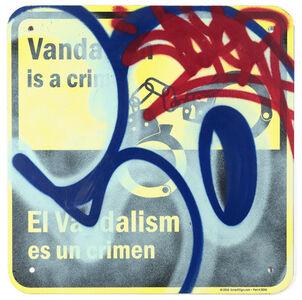 Cope2, ''Vandalism es un Crimen' Original on Street Sign', 2020