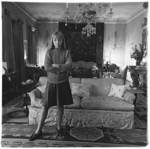 Diane Arbus, 'Penelope Tree in her living room, N.Y.C., 1962', 1962