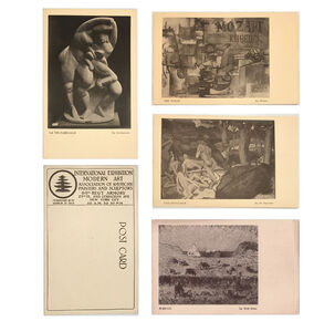 1913 Armory Show, '4-EXHIBITION CARD SET: 1913 Armory Show (International Exhibition of Modern Art), Archipenko, Braque, de Segonzac, & Walt Kuhn', 1913