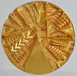Arnaldo Pomodoro, 'TWO SIDED GOLD PLATED MEDALLION', 1985
