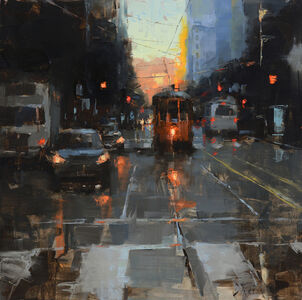 Jacob Dhein, 'Morning Trolley on Market Street', 2017