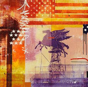 "Mark Andrew Allen, '""Dallas Flag and Pegasus""', 2018"