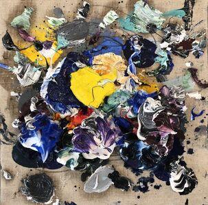 Ismael Lagares, 'Ocher blue III', 2019