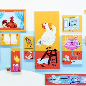 Nancy Chunn, 'Chicken Little and the Culture of Fear: Scene II, The Bathroom (detail)', 2004-2005
