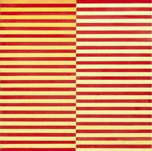 Dadamaino, 'Ricerca del colore. Giallo su rosso', 1966-68
