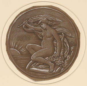 Elihu Vedder, 'Drawing for Star of Fortune', 1892