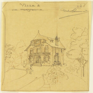 Hector Guimard, 'Perspective View of a Villa', 1900-1905