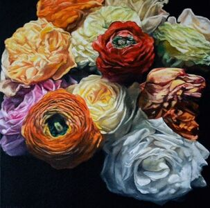 Robert Lemay, 'Garden Roses - floral still life painting', 2020