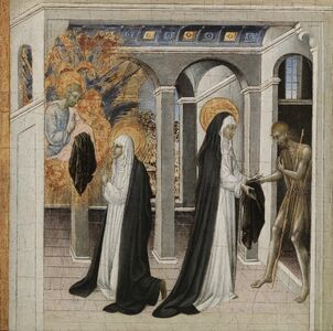 Giovanni di Paolo, 'St. Catherine of Siena and the Beggar', 1460s