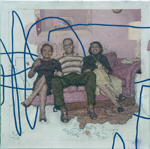 Colin Chillag, 'Being There Then (three seated figures)', 2018