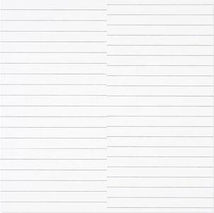 François Morellet, '19 lignes parallèles et 21 lignes parallèles avec 1 interférence', 1974