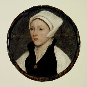 Hans Holbein the Younger, 'Portrait of a Young Woman with a White Coif', 1541