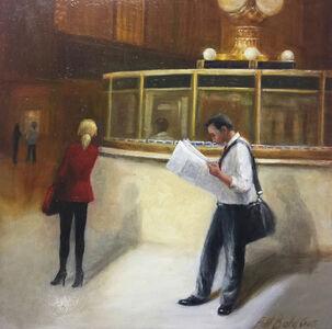"Patt Baldino, '""Newspaper at Grand Central""', 2019"
