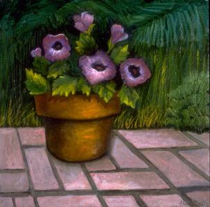 Ellen Sinel, 'Purple Petunias', 1993