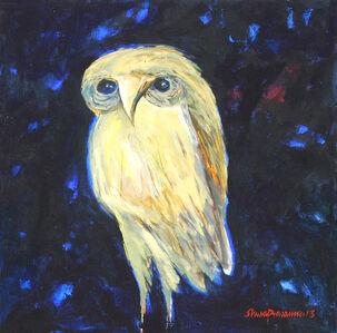 Subhaprasanna Bhattacharjee, 'Laxmi's Owl, Hindu Mythology by Modern Indian Artist Shuvaprasanna Bhattacharya', 2013