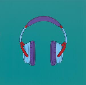 Michael Craig-Martin, 'Untitled (headphones medium)', 2014