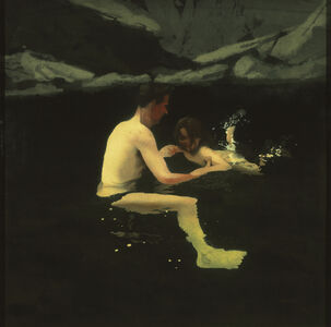Michael Andrews, 'Melanie and Me Swimming , 1978 – 1979', 1978-1979