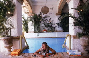 Slim Aarons, 'Paul Bancroft of San Francisco, Pool at Puerto Vallarta', 1979