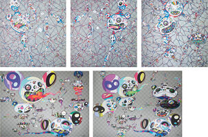 Takashi Murakami, 'We Are Destined To Meet Someday! But for Now, We Wander in Different Dimensions; Chaos: Primordial Life; DOB: Myxomycete; Hands Clasped; and Another Dimension Brushing Against Your Hand', 2015, 2016, 2017