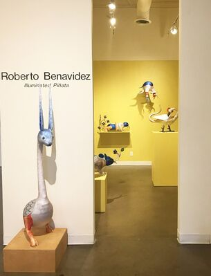 Roberto Benavidez - Illuminated Piñata, installation view